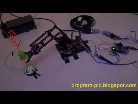Arduino Robot Arm MeArm - Modbus - PLC - YouTube