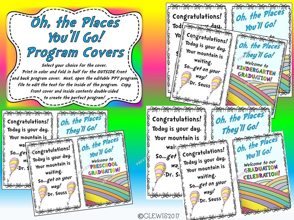 This Oh, the Places You ll Go! Graduation Program MEGA Bundle is - graduation program