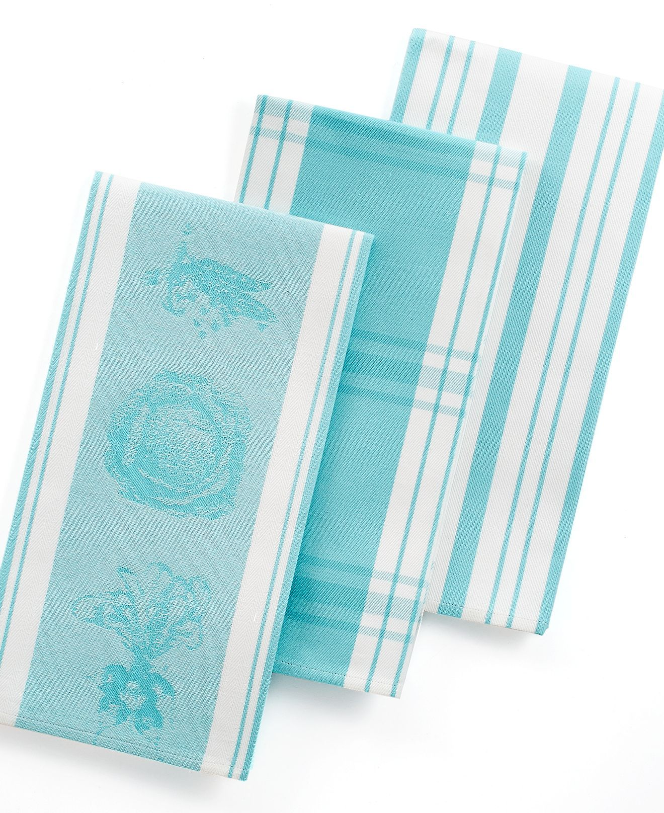 martha stewart collection jacquard set of 3 kitchen towels i