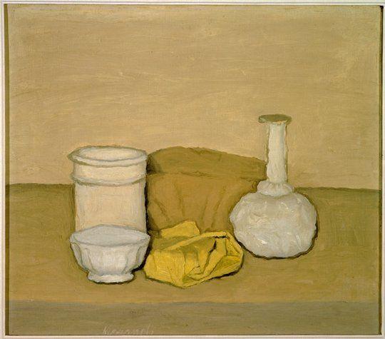 Giorgio Morandi   (Bologna, Italy 1890-1964)  Natura morta (Still Life)  1952  Painting   oil on canvas  (SF MoMA) #GISSLER #interiordesign