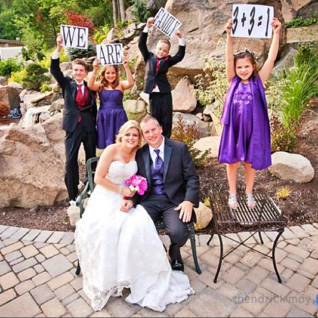 Our Family Wedding Pic His 2 Kids My 2 Kids 3 3 1 Family Love It Weddings Families Family Wedding Pictures Blended Family Wedding Family Wedding Photos