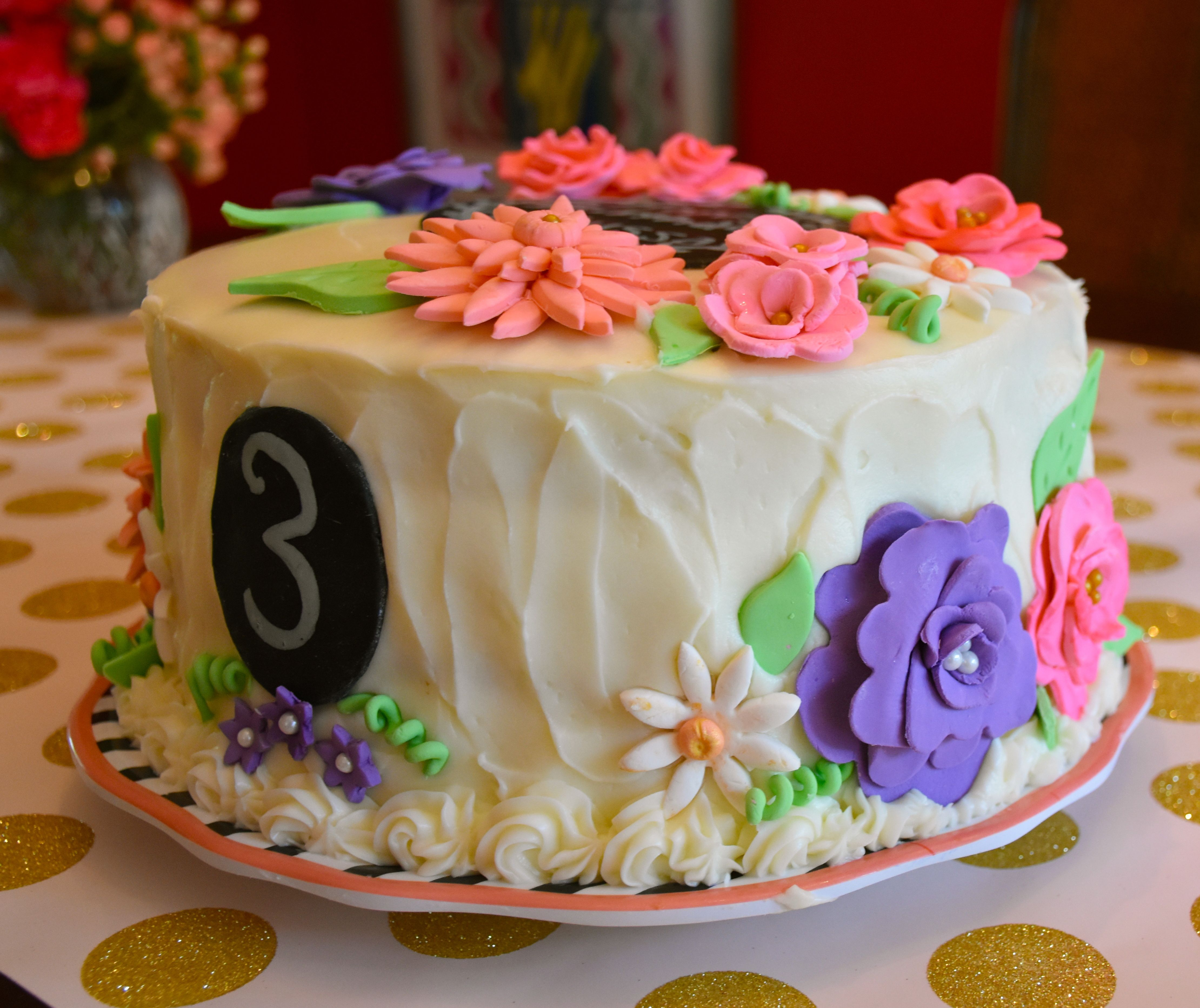 Whimsical Birthday Cake Whimsical Flower Cake Strawberry Cake Cream