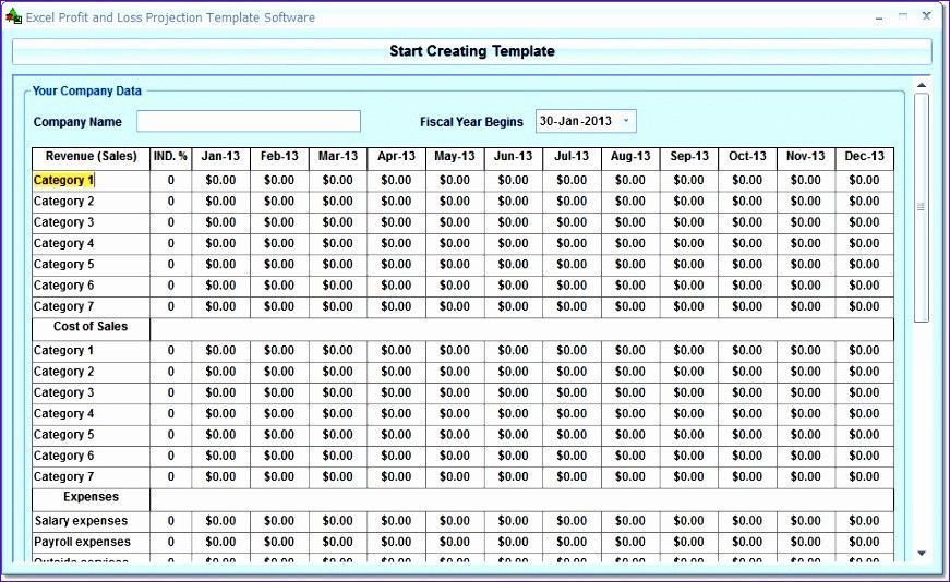 Excel P And L Template K8783 Templates Free Design Templates Profit And Loss Statement