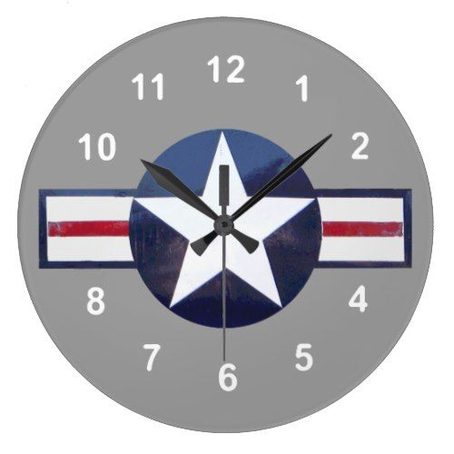 Sentimental Wedding Gift Ideas: US Air Force Sign...with Your Background. Large Clock