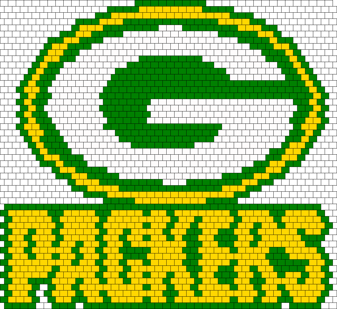 Green Bay Packers Bead Pattern Green Bay Packers Crafts Green Bay Packers Green Bay