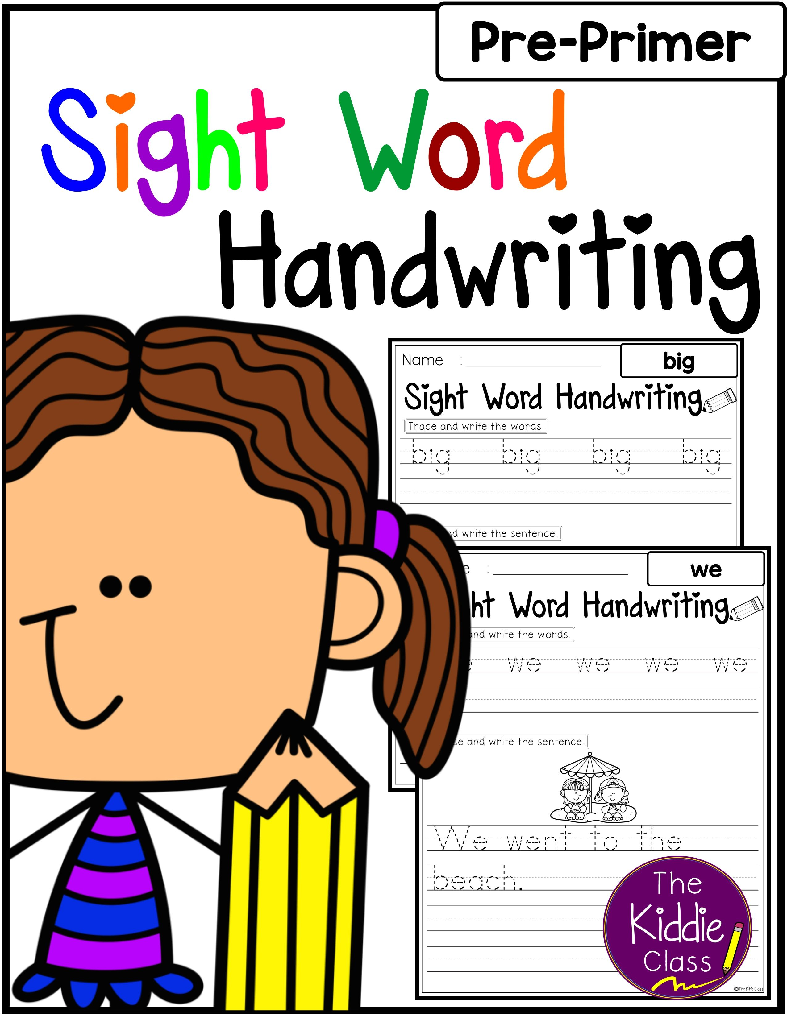 There Are 40 Pages Of Sight Word Pre Primer Worksheet In