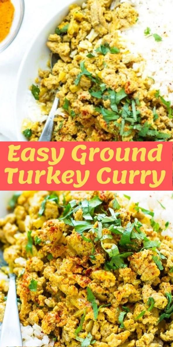Easy Ground Turkey Curry