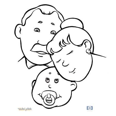 dia-de-la-familia-para-colorear-054 | familia | Pinterest | School