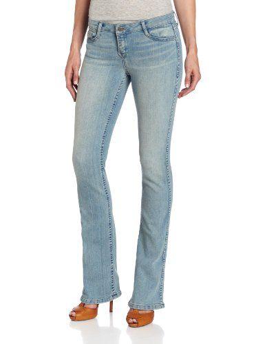 Bleulab Women's Fortis 8 Pocket Reversible Bootcut Jean, Medium Blue Denim/light Blue Denim, 30