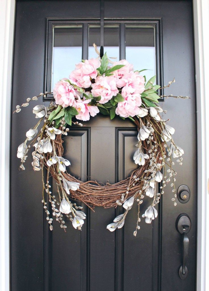 How to Make a Peony Wreath for Spring - Zoe With L