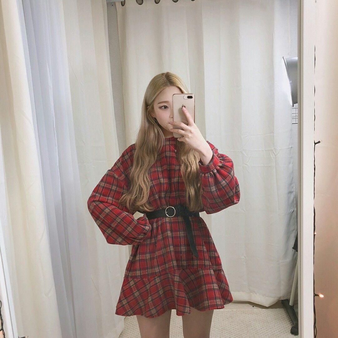 Korean flannel outfits  Pin by Bely q on uuOh Jieun  Shape  Pinterest  Korea and Shapes