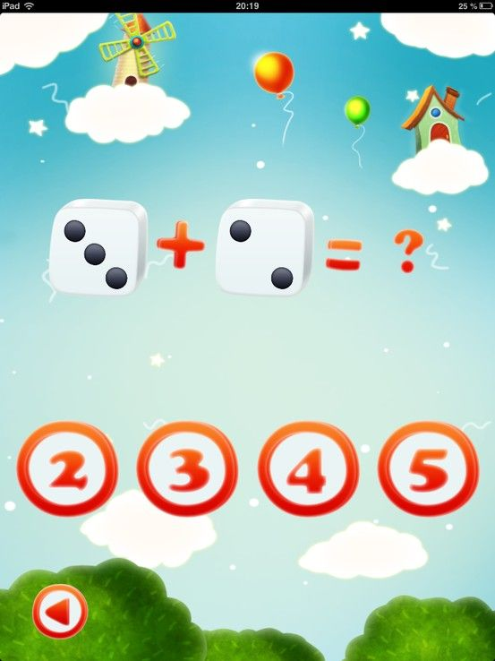 child has to select the correct answer. app education math
