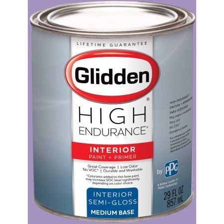 Glidden High Endurance Interior Paint and Primer, Confetti Purple, #40RB 36/264