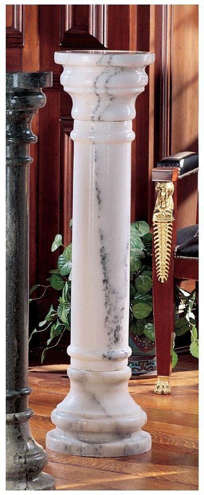 Solid White Marble Column Pedestal Marble Columns Design Toscano Marble