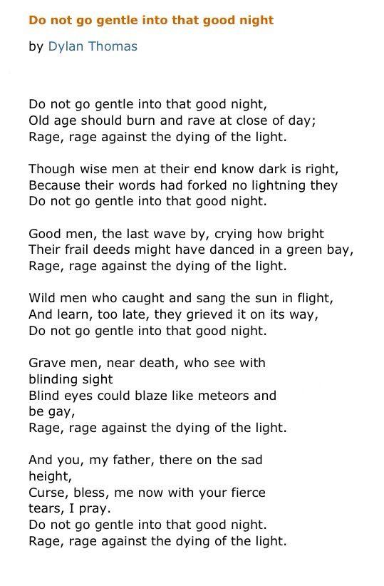 Poet Ponderings Poetry Quotes Haiku Dylan Thomas Do Not Go