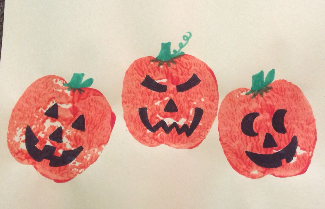 Apple Stamping Jack O Lanterns Jack O Lantern Crafts