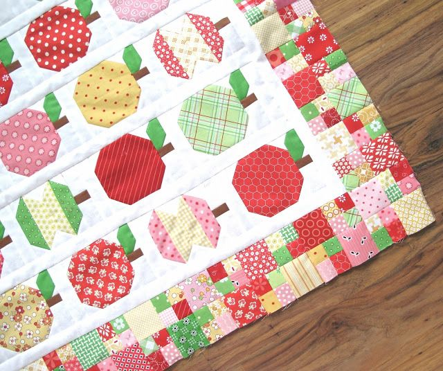 Quilty Fun with Lori Holt of Bee in My Bonnet...border with tiny four patch and one square...