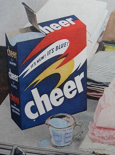 1950s Cheer Detergent Box Vintage Advertisement Detail