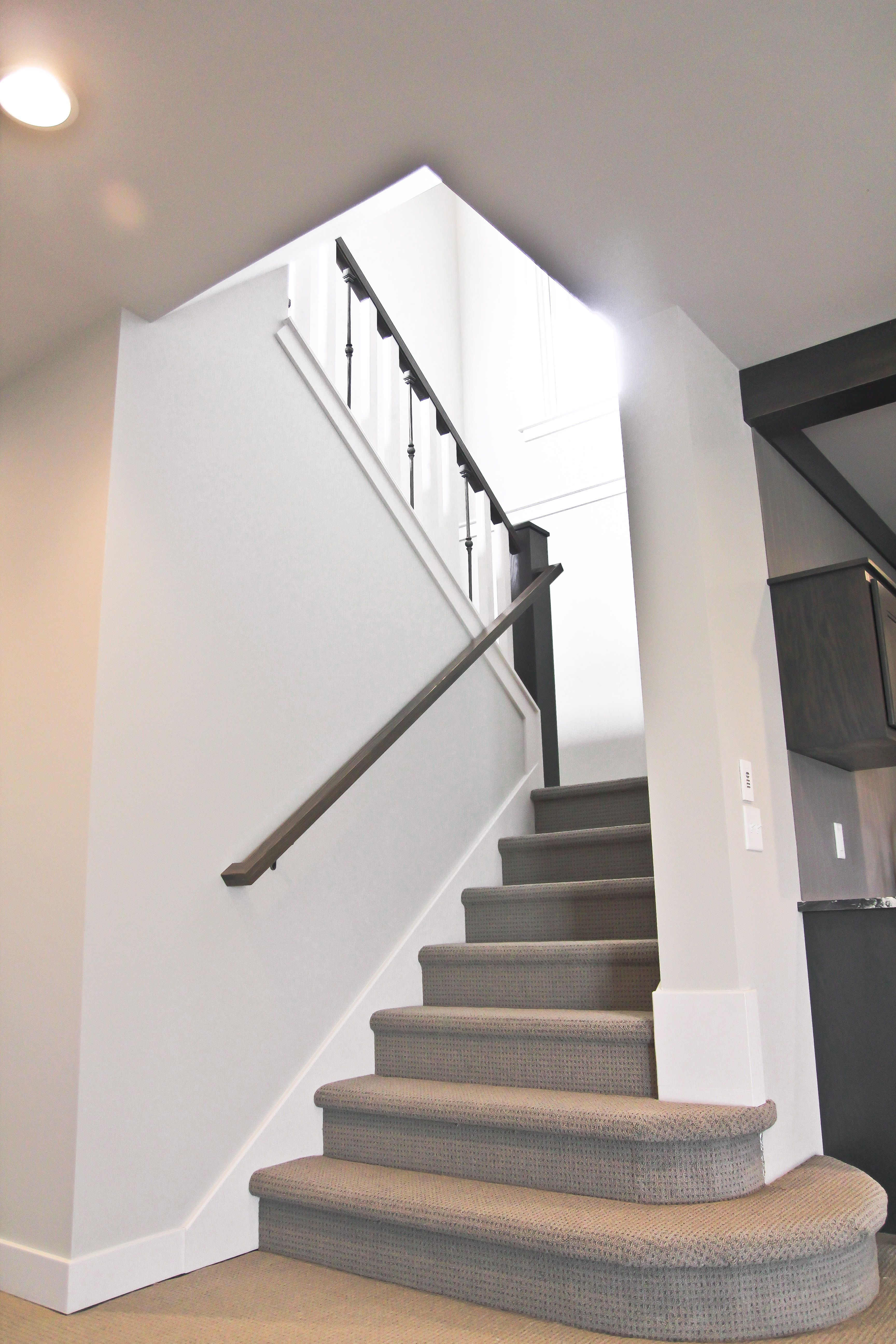 Best Open Stairway Carpet On Stairs Achieve An Open Feel And 400 x 300
