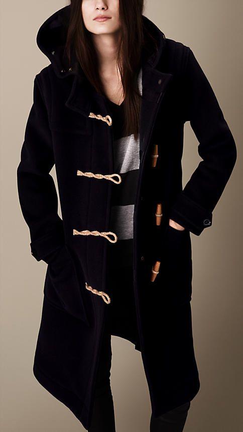 Duffle-coat long en laine mélangée   Burberry 03a6596dcc5