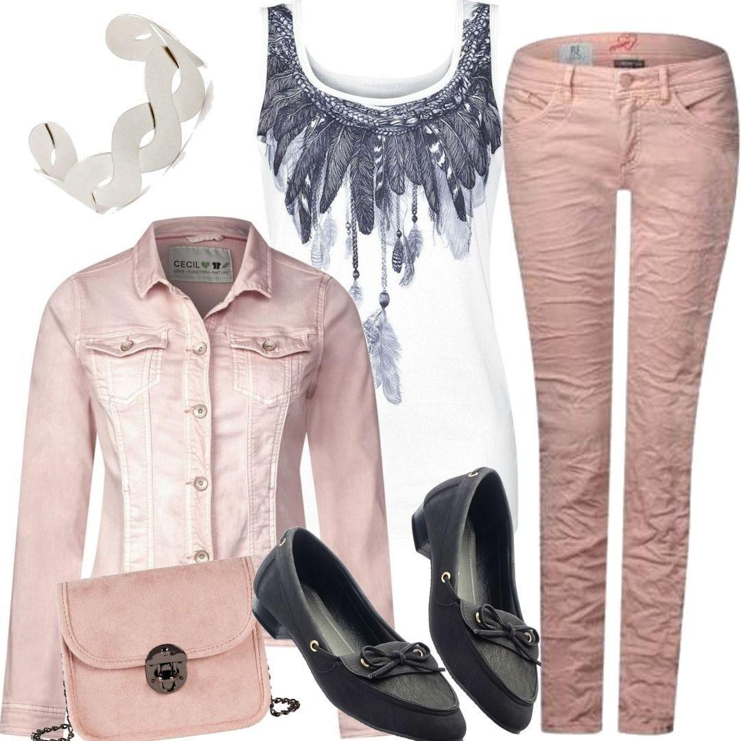 CECIL Color Denim Jacke Lejla - rosy apricot Pink Street