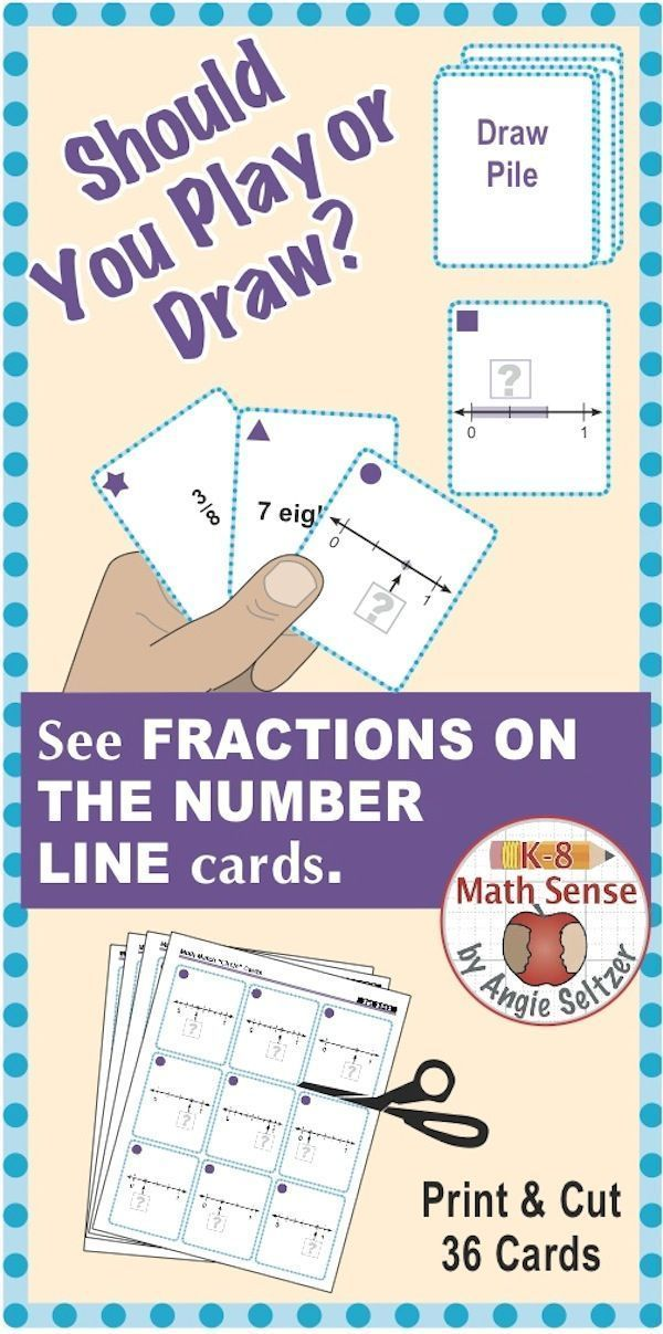 """This set of printable cards will help students learn to use fractions on the number line, called for by CCSS 3.NF.2b. The """"3F"""" in the title stands for Grade 3, fractions domain. As students play games, they learn to match a fraction to a verbal expression"""