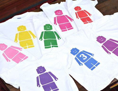 This Would Be Fun For All The Kids To Have Same Shirt And It Isnt A Bad Price Set Of 9 LEGO Party Favor Birthday Shirts By Myemmybaby On Etsy