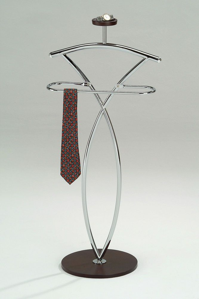 Coat Rack Stand Men Clothing Valet Suit Stand Metal & Wood Clothes Hanger  Stand