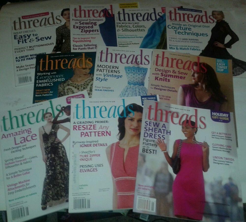 Lot 10 threads knitting sewing machine fabric design stitching 2012 2013 2014 bin 7.99+5.97