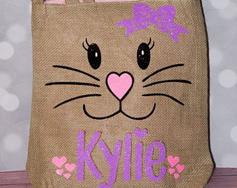 Personalized burlap bunny bag personalized easter basket bunny personalized burlap bunny bag personalized easter basket bunny face easter bag easter tote baby girls easter basket easter bag pinterest bunny negle Images