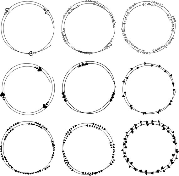 Hand Drawn Heart Frame Clipart Dividers Round Frames Clipart Ornament Frame Clipart Clip Art Ve Heart Hands Drawing Frame Clipart How To Draw Hands