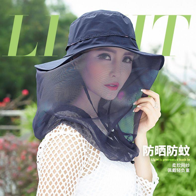 6f5f8214baf Maleroads Anti-mosquito Mesh Fishing Cap Bucket Hat Bush Hats Wide Brim Sun  Caps Outdoor