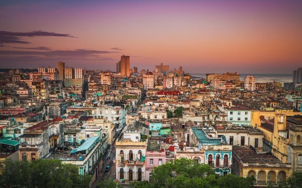 Havana Cuba Sunrise Wallpaper Cities Towns Villages