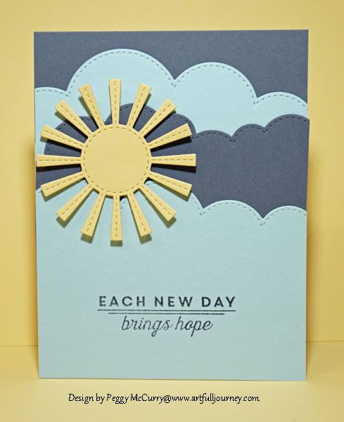 card sun sunny skies cloud clouds cloud border - CC568 DT Sample - Sample Cards
