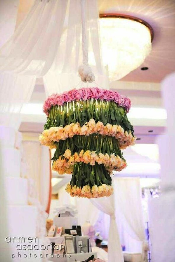 Romantic Wedding Ideas We Love Fl Chandeliers For The Reception