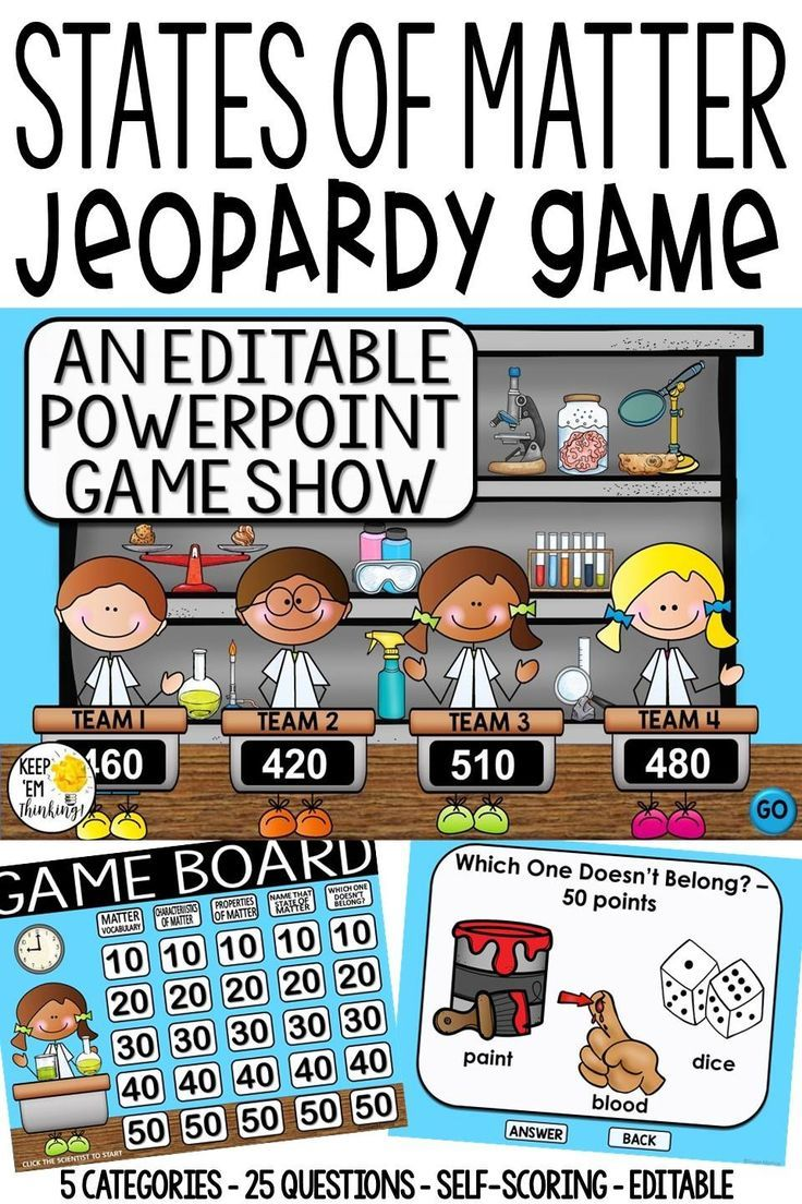 States of matter game show an editable powerpoint game