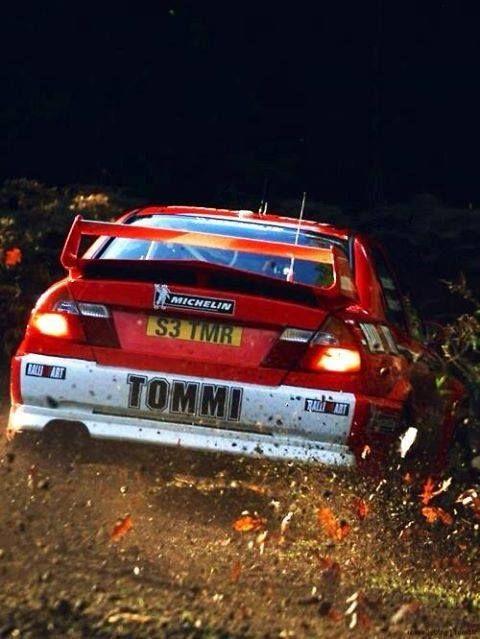 Mitsubishi Lancer Rally Car Finnish Rally Driver Tommi Makinen