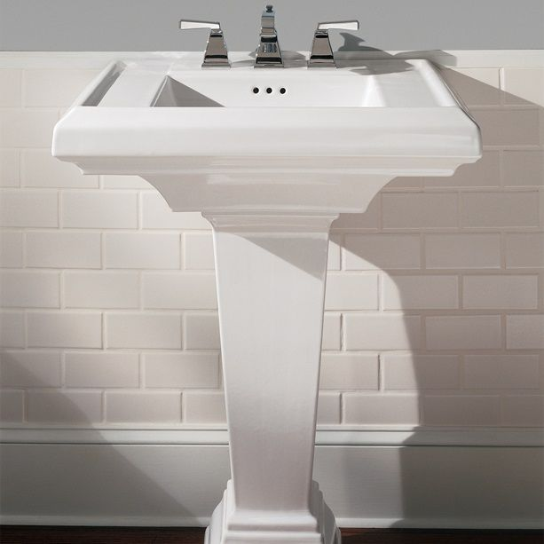Bathroom Sinks Town Square 27 Inch Pedestal Sink White With