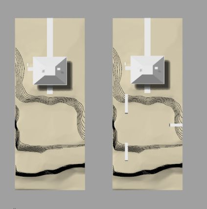 This model is to represent the concept design that was submitted and approved in March 2013.  We decided to lightly reflect the concepts of the Landcape Architects - Reed Hilldebrand -  in the model, using a homogeneous material palette.