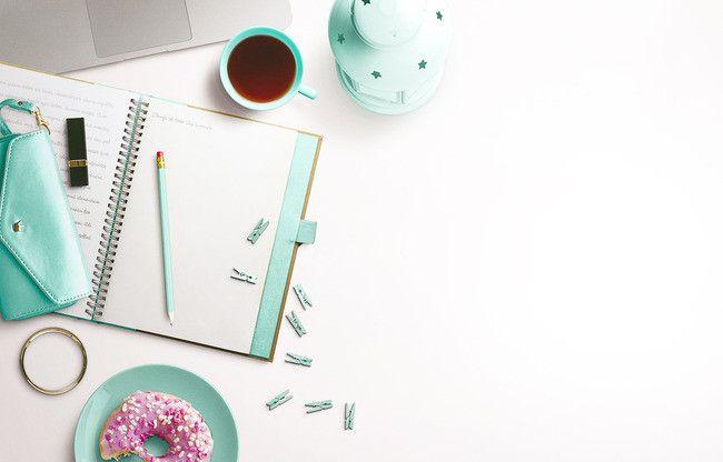Mint Green Coffee Table Minimalist Literary Creative ...