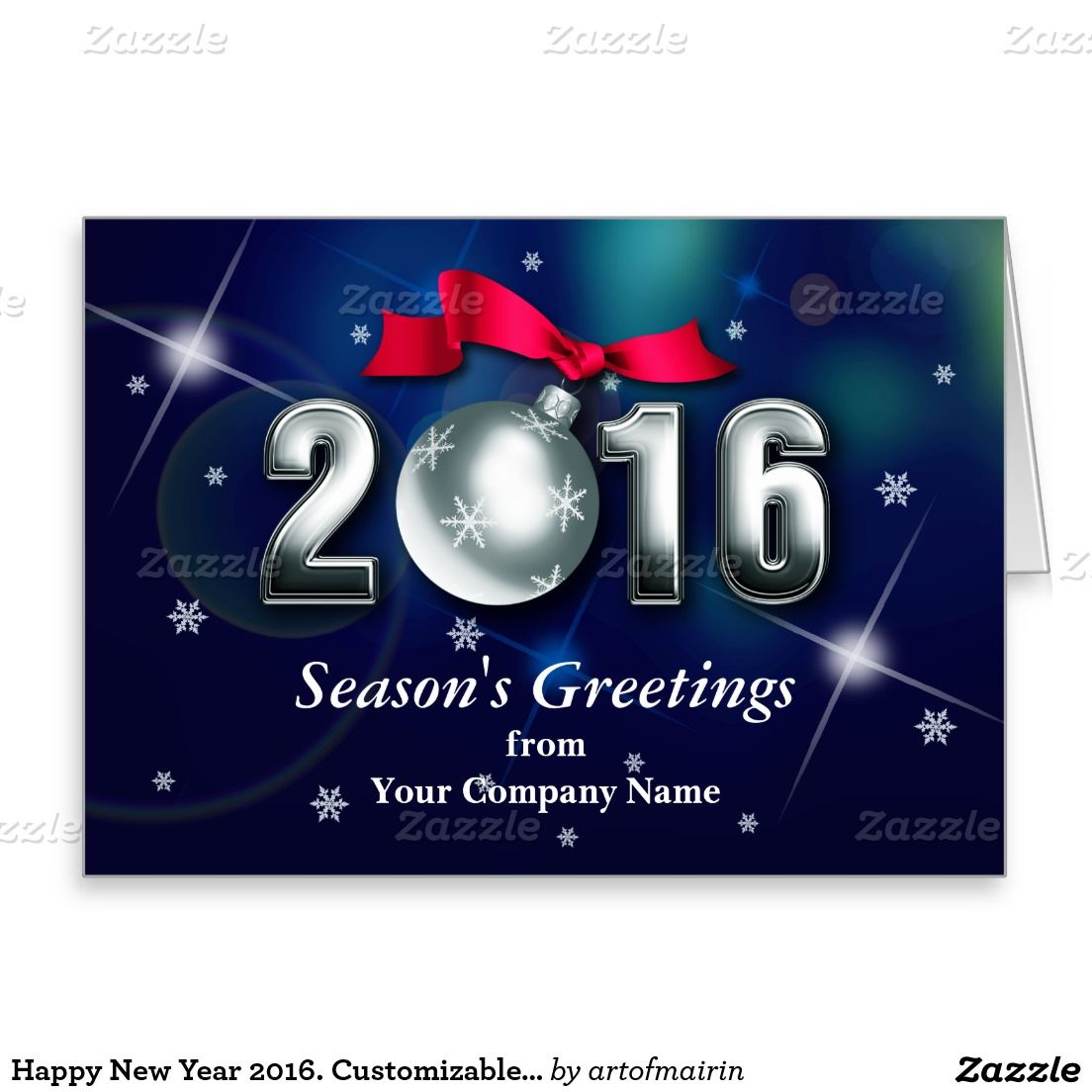Season\'s Greetings. Happy New Year 2016 Business / Corporate ...
