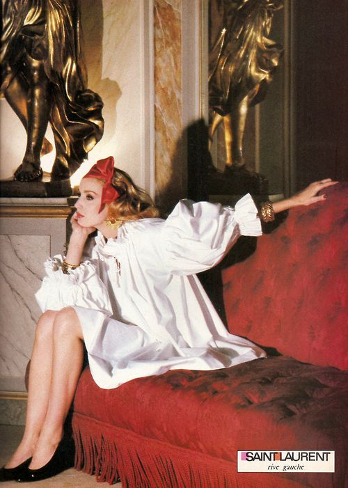 jerry hall for yves saint laurent, 1981