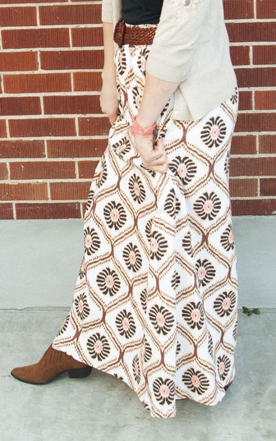 Drafting and Sewing a Maxi Skirt // Stretch Yourself | Future ...