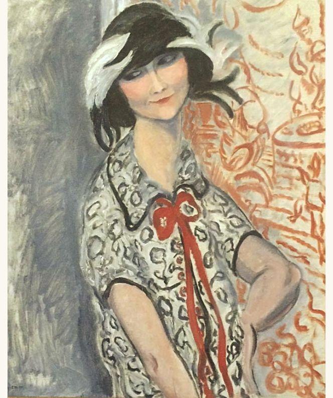 Portrait of woman, c. 1925 - Marguerite Ghy-Lemm (aliasGuy Lemm)(1888–1962)