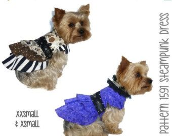 ❘❘❙❙❚❚ ON SALE ❚❚❙❙❘❘     Delightfully precious Tutu Dog Dress Pattern for your little dog! Constructed of cotton, cotton blends and tulle the dog