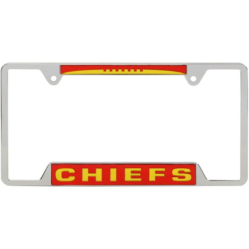 Kansas City Chiefs WinCraft 4-Tab Style Inlaid Metal License Plate ...