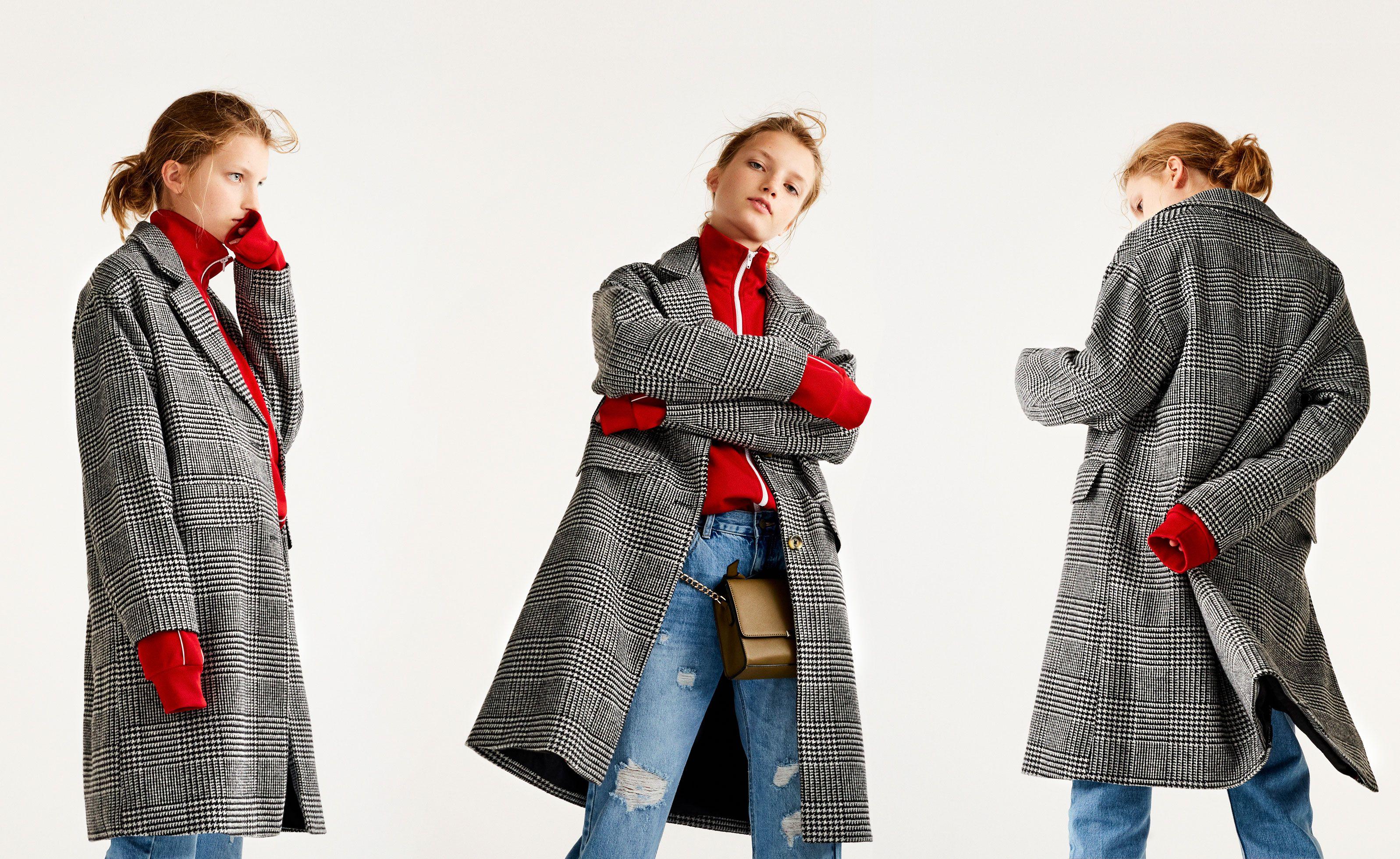 6d98a223b1cb Pull Bear - γυναικεία - νέα προϊόντα - καρό παλτό oversize - γκρι -  09751306-I2017
