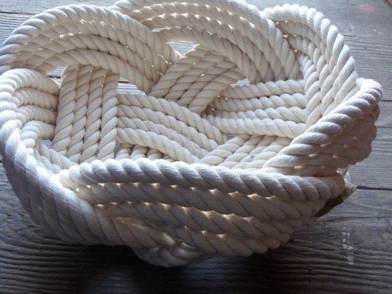 Photo of Nautical Decor Cotton Rope Bowl Basket 10″ x 5″ Tightly Woven Beach Marine Ocean Coastal Rustic FREE SHIP
