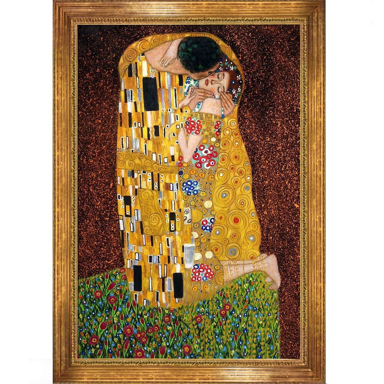 Климт поцелуй картина оригинал фото