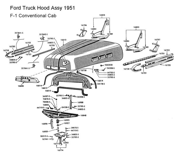 1951 F1 Ford Truck Wiring Diagram: 1952 Ford Truck, Ford